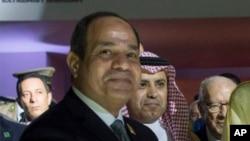 Le président Abdel Fattah al-Sissi d'Egypte lors d'une visite à Ryad, Arabie saudite, 21 mai 2017.