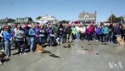 民众在缅因海滩聚集 追思芭芭拉·布什女士