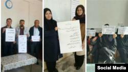 معلمان برای دومین روز متوالی در ایران دست به تحصن سراسری زدند.