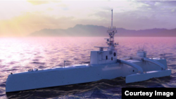 DARPA'S ACTUV unmanned submarine tracker will begin trials in early 2016. The vessel might also eventually be applied to other missions, such as mine countermeasures. (DARPA)