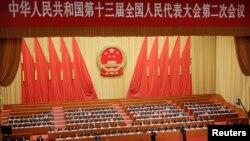8일 중국 베이징 인민대회당에서 전국인민대표대회가 열렸다.