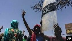 Manifestations à Khartoum le 8 avril 2019.
