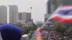 حمايت معترضان تايلندی از برنج کاران
