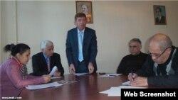 Müsavat Partiyasında mətbuat konfransı (Foto musavat.com saytından götürülüb)