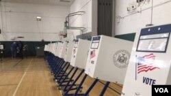 صندوق های رای دهی در بروکلین نیویارک