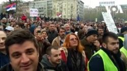 """VIDEO Protest """"Svi kao jedan – 1 od 5 miliona"""" u Beogradu"""