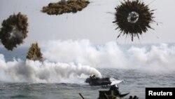美國和南韓3月30日聯合舉行軍演時的資料照。