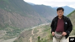 张楠在沿红军长征路线采访途中留影