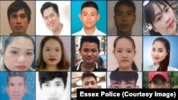 Hình ảnh của một số người Việt tử vong trong thùng xe tải ở Anh.