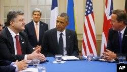 Слева на право: Петр Порошенко, Джон Керри, Барак Обама, Дэвид Кэмерон. Уэльс, 4 сентября, 2014.