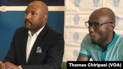 Dr. Sacrifice Chirisa, secretary general of the Zimbabwe Medical Association and Dr. Mthabisi Bhebhe, secretary general of the Zimbabwe Hospital Doctors Association