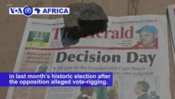 VOA60 Africa - Top Zimbabwe Court Confirms Mnangagwa's Election Victory