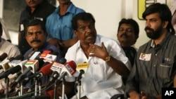 Thân nhân các nạn nhân thiệt mạng trong vụ ám sát cựu Thủ tướng Rajiv Gandhi tại Chennai, Ấn Độ, ngày 20/2/2014.