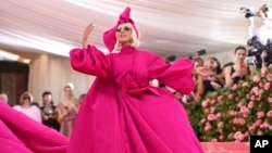 """Lady Gaga attends The Metropolitan Museum of Art's Costume Institute benefit gala celebrating the opening of the """"Camp: Notes on Fashion"""" exhibition on Monday, May 6, 2019, in New York. (AP)"""