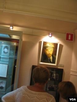 圣彼得堡的列宁故居博物馆。(美国之音白桦拍摄)