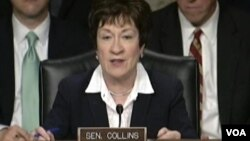 科林斯参议员在听证会上(资料照) (视图截频)