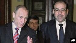 Thủ tướng Nga Vladimir Putin và Thủ tướng Iraq Nouri al-Maliki