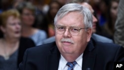 FILE - John Tefft of Va., arrives to testify before the Senate Foreign Relations Committee on Capitol Hill in Washington.