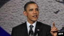 Президент США Барак Обама. Нью-Йорк. 6 апреля 2011 года