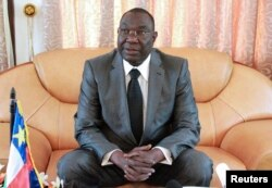 Central African Republic's President Michel Djotodia during a conference in Bangui, Dec. 8, 2013
