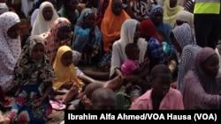 Réfugiés à Madagali au Nigeria le 3 juin 2014.