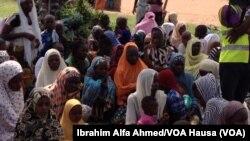 Wasu 'yan gudun hijira a jahar Borno