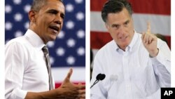 Predsednik Barak Obama i njegov verovatni republikanski rival Mit Romni