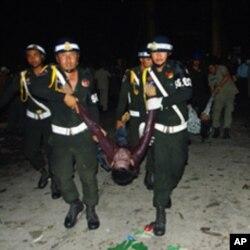 柬埔寨踩踏事件378人喪生