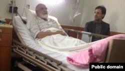 تصویری از بستری شدن سال گذشته مهدی كروبی در بیمارستان
