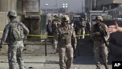駐守阿富汗的美國部隊