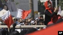 بحرین کے دارالحکومت مناما میں احتجاج کا ایک منظر