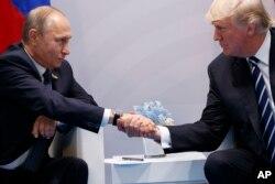 Vladimir Putin və Donald Tramp G20 sammitində