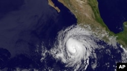 NASA image taken at 2 a.m. EDT shows Hurricane Bud. The U.S. National Hurricane Center says Hurricane Bud has formed off the southwestern coast of Mexico, May 24, 2012.