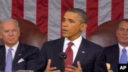 Shugaban Amurka Barack Obama lokacin da ya ke jawabi