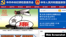 中纪委网站截图