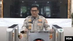 Tangkapan layar Kepala Biro Penerangan Masyarakat Divisi Humas Polri Argo Yuwono.