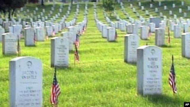 Grave sites at Arlington National Cemetery in Arlington, Virginia