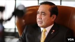 Thai PM Prayuth Chan-ocha speaks with VOA in New York, Sept. 29, 2015.