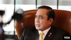 Thủ tướng Thái Lan Prayuth Chan-ocha trong cuộc phỏng vấn với đài VOA tại New York.