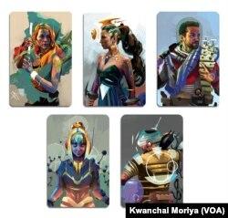 Examples of illustrations by Kwanchai Moriya, a California-based Thai-Japanese boardgame illustrator