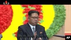 Kim Džong Un tokom Kongresa u Pjongjangu, Severna Koreja