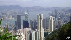 俯瞰香港維多利亞港灣