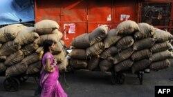 Skladište hrane u Nju Delhiju, Indiji