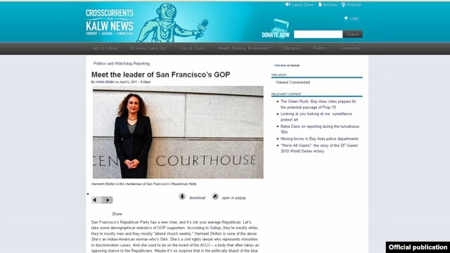 Harmeet Dhillon when she was appointed the San Francisco Republican Party Chair.