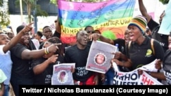Manifestation contre les meurtres et enlèvements de femmes, Kampala, Ouganda, 30 juin 2018. (Twitter/Nicholas Bamulanzeki)