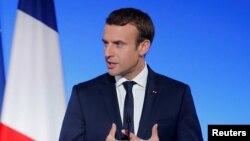 Le président français Emmanuel Macron à Paris, le 13 juillet 2017.