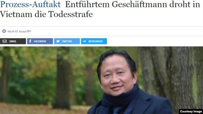 Tin về vụ bắt cóc Trịnh Xuân Thanh trên báo chí Đức