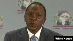 Le président kenyan Uhuru Kenyatta (Maison Blanche)