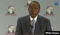 FILE - Kenyan President Uhuru Kenyatta.