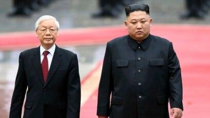 Kim Jong-un và Nguyễn Phú Trọng tại Hà Nội, 1 tháng Ba, 2019.